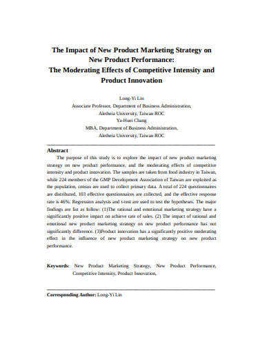 product innovation marketing strategy example
