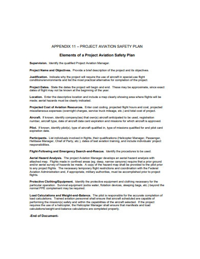 project aviation safety plan