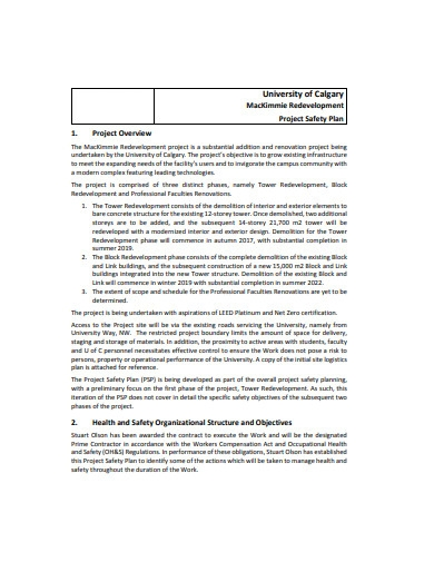project safety plan example