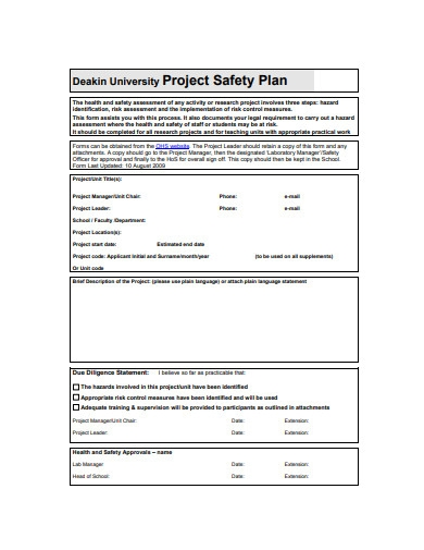 project safety plan in pdf