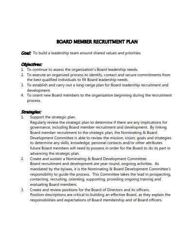 recruitment strategic plan format