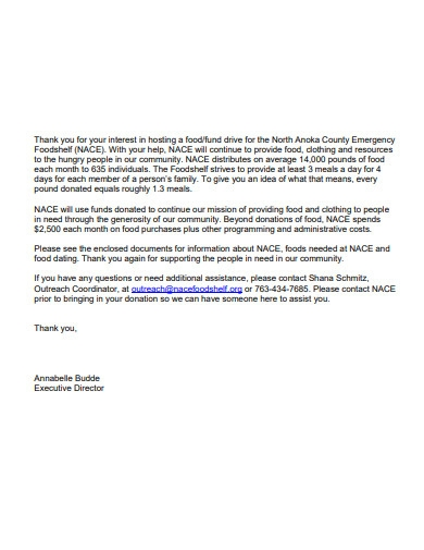 simple fundraising donation letter