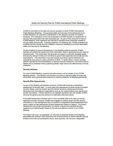 safety and security plan in pdf