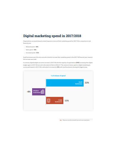 sample digital marketing report