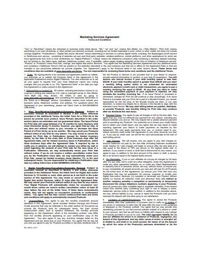 sample digital marketing services agreement