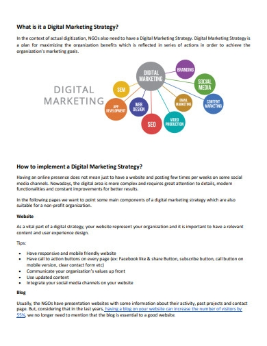 sample digital marketing strategy plan
