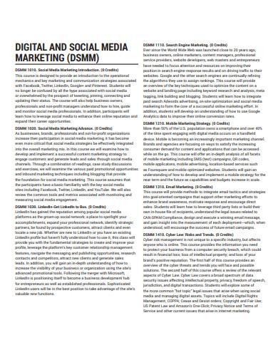 sample digital and social media marketing