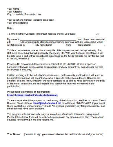 sample fundraising donation letter