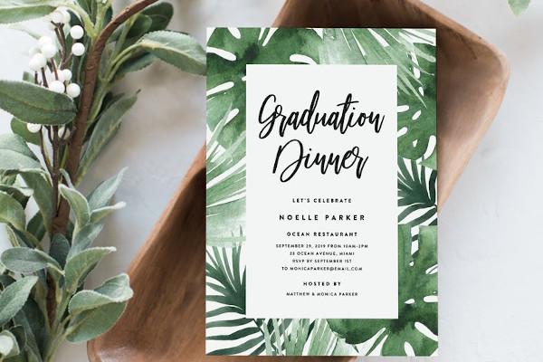 sample graduation dinner invitations