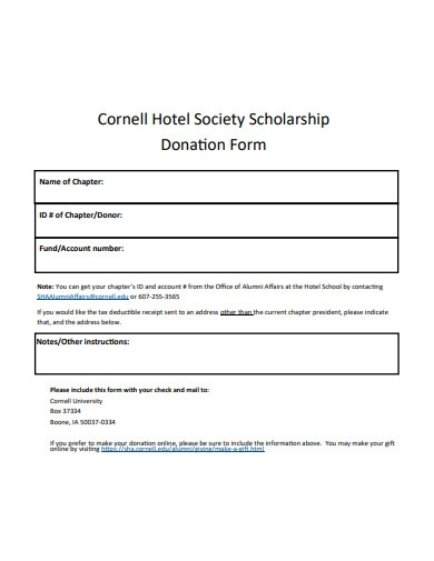 scholarship donation form in pdf