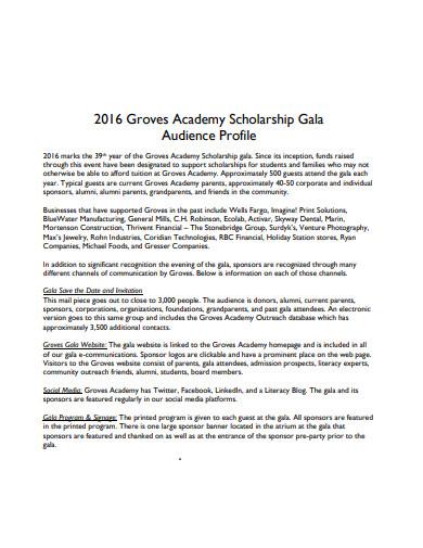 scholarship profile example