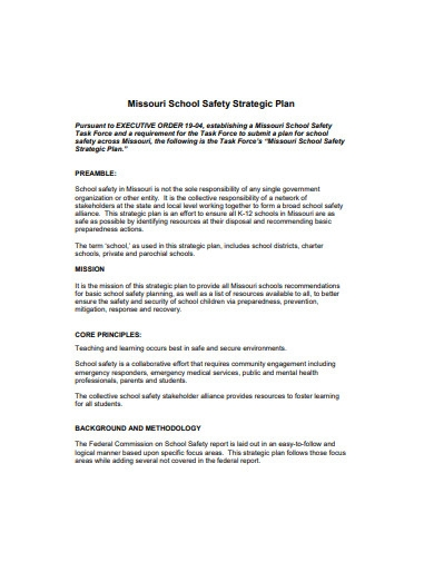 school safety strategic plan