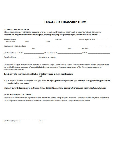 simple legal guardianship form