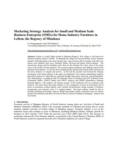 small business marketing strategy format