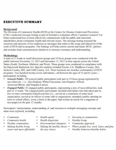 social marketing executive summary