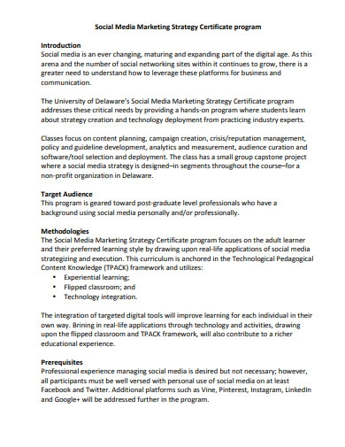 social media marketing strategy plan