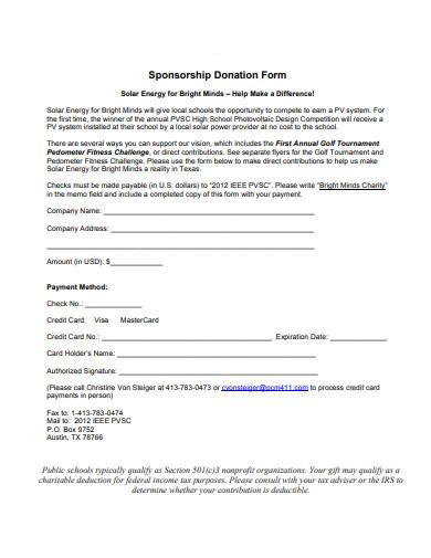 sponsorship donation form1