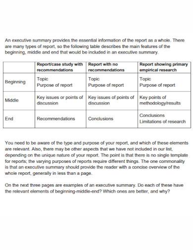 teaching learning executive summary