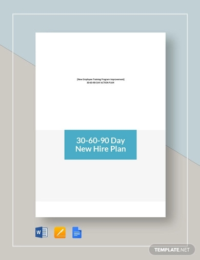 30 60 90 day new hire plan