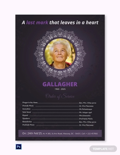 a3 funeral program poster templates