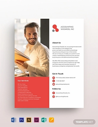 accounting bookkeeping services flyer template