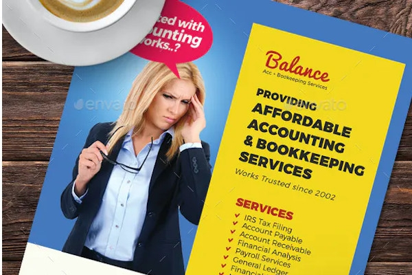 accounting bookkeeping services flyers
