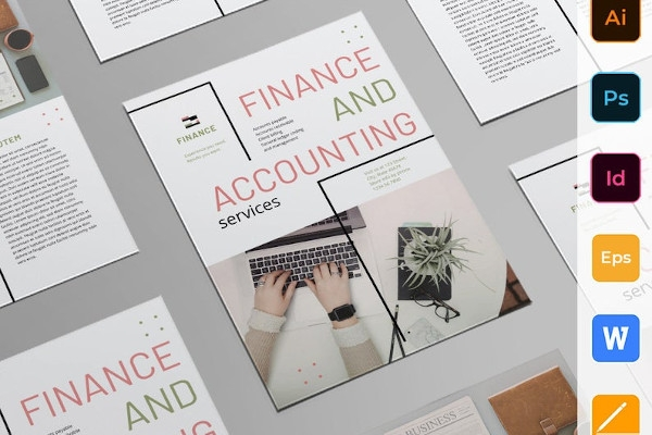accounting fianance flyer template