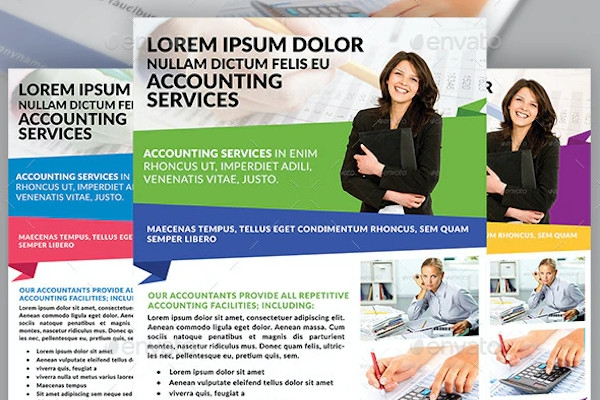 accounting finance service flyer template