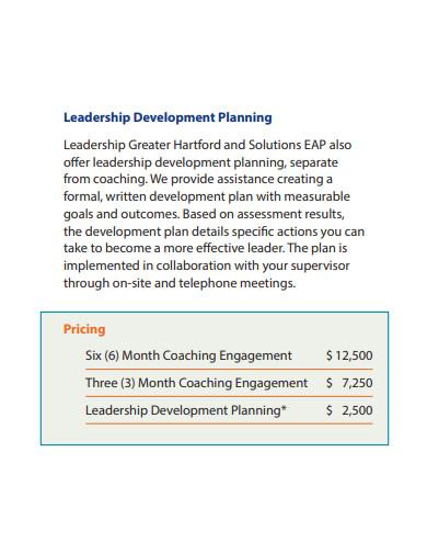 basic leadership development plan