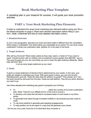 book proposal marketing plan
