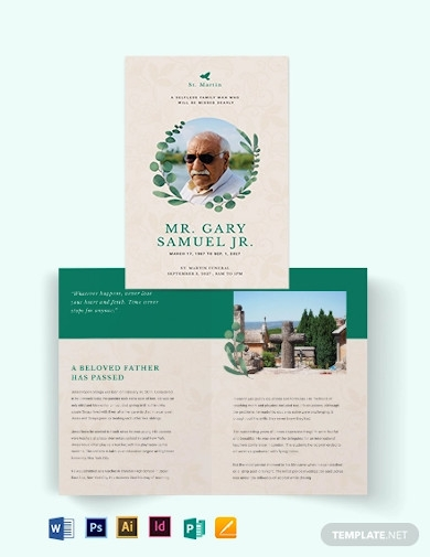 booklet funeral obituary brochure