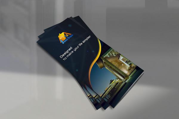 brochure for smart home care company