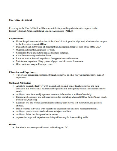 business executive assistant cover letter