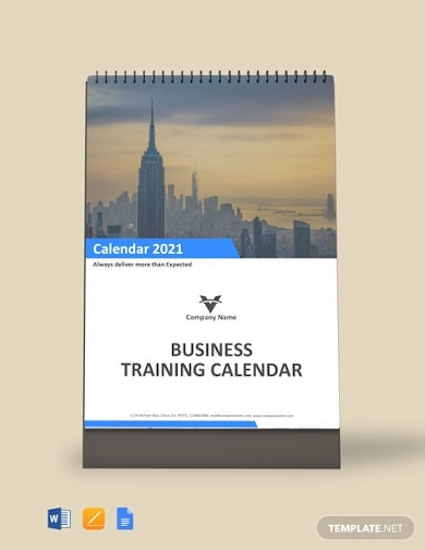 business training desk calendar