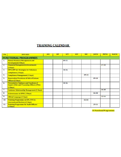 campus training calendar