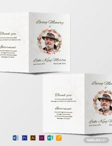 catholic floral obituary brochure