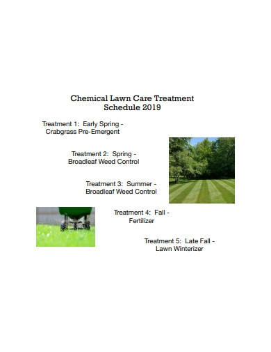 chemical lawn care treatment