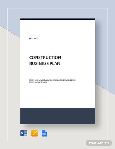 construction business plan example