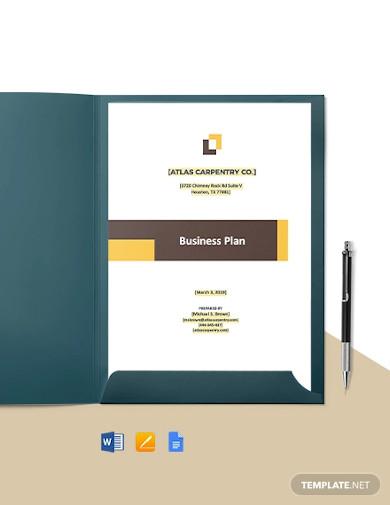 construction carpenter business plan