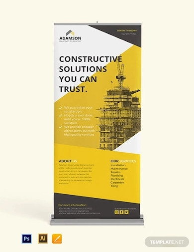construction roll up banner template