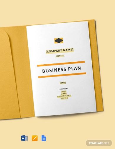construction start up business plan