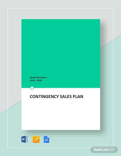 contingency sales plan