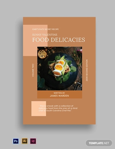 cookbook book cover templates