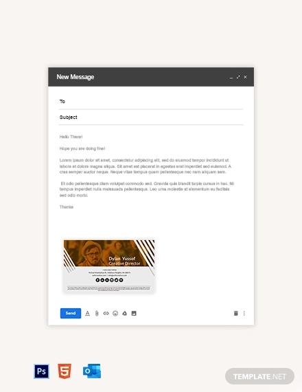 creative email signature template
