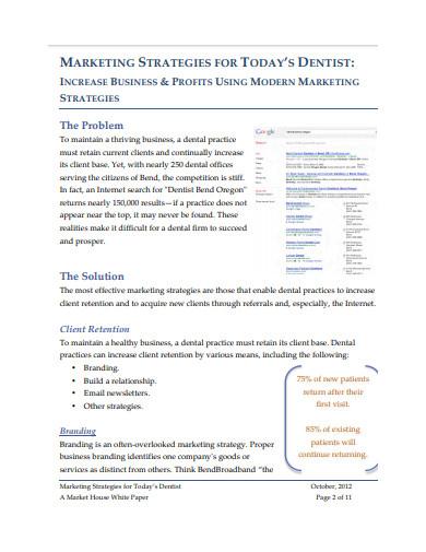 dental social media marketing plan