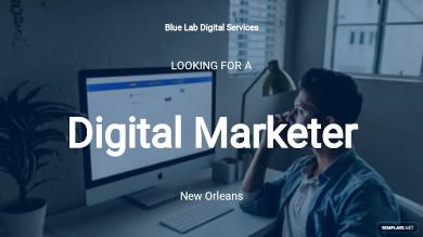 digital marketing job ad description template