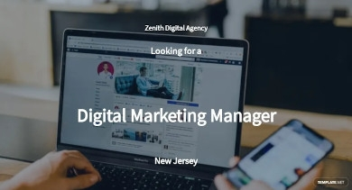 digital marketing manager job description template