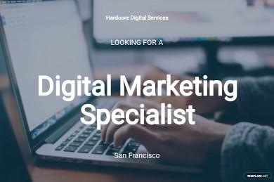 digital marketing specialist job ad description template