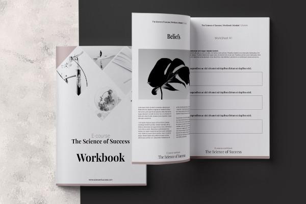 e course workbook indesign template