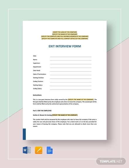 24 Examples Of Hr Forms Pdf Word Examples